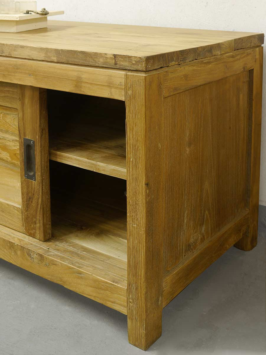 lowboard kommode tv board aus teakholz massiv im landhausstil kommoden und anrichten sideboards. Black Bedroom Furniture Sets. Home Design Ideas