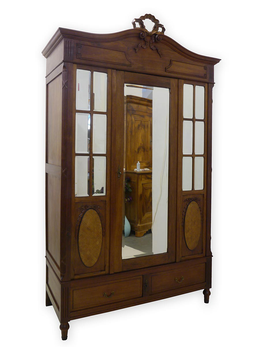 dielenschrank kleiderschrank schrank antik historismus um 1900 mahagoni 2988. Black Bedroom Furniture Sets. Home Design Ideas