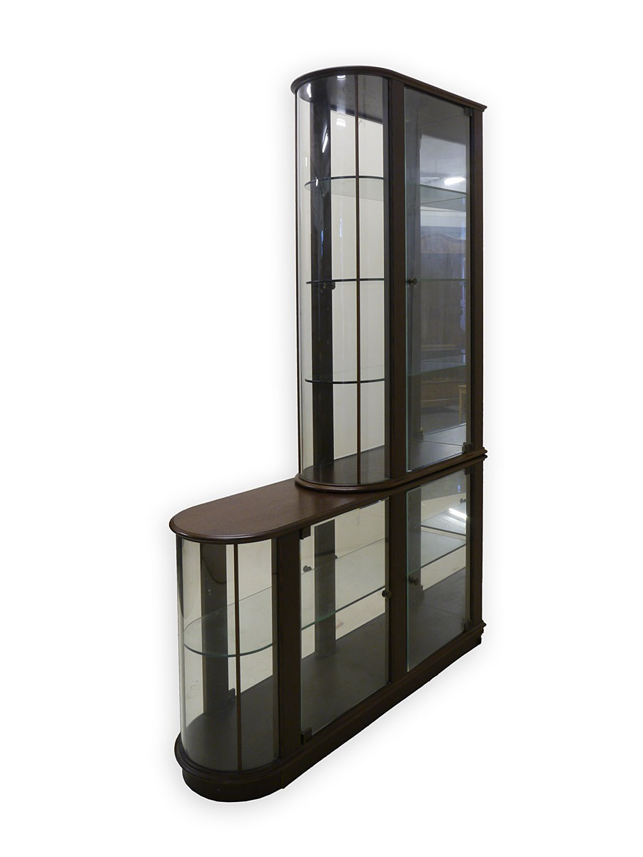 glasvitrine vitrine sammlervitrine mit beleuchtung 90er jahre ebay. Black Bedroom Furniture Sets. Home Design Ideas