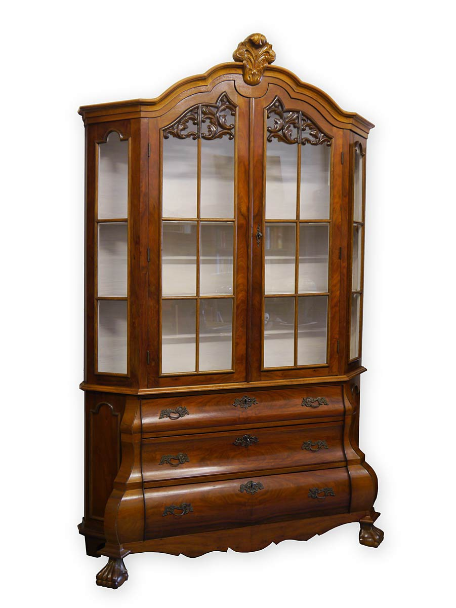 vitrine glasschrank schrank neobarock um 1950 3011 ebay. Black Bedroom Furniture Sets. Home Design Ideas