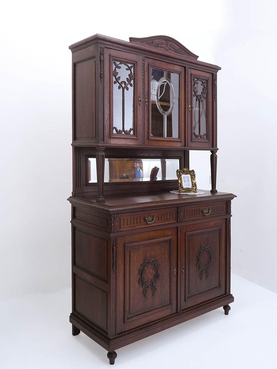 buffet k chenschrank buffetschrank jugendstil um 1910. Black Bedroom Furniture Sets. Home Design Ideas