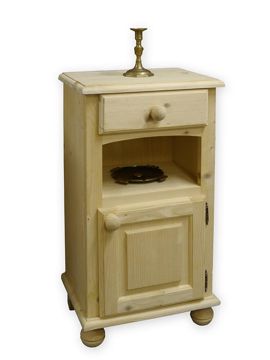 nachtschrank nachttisch nachtkonsole antik stil weichholz unbehandelt 3056 ebay. Black Bedroom Furniture Sets. Home Design Ideas