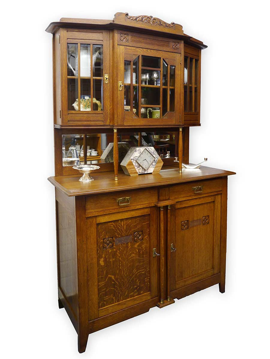 buffet k chenschrank buffetschrank antik jugendstil um. Black Bedroom Furniture Sets. Home Design Ideas
