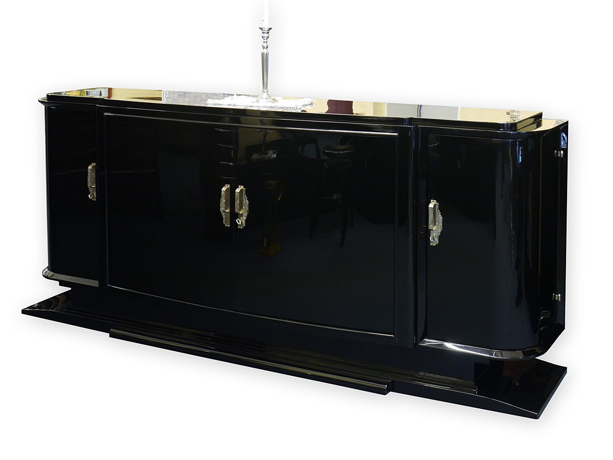sideboard anrichte art deco original um 1925 schwarz. Black Bedroom Furniture Sets. Home Design Ideas