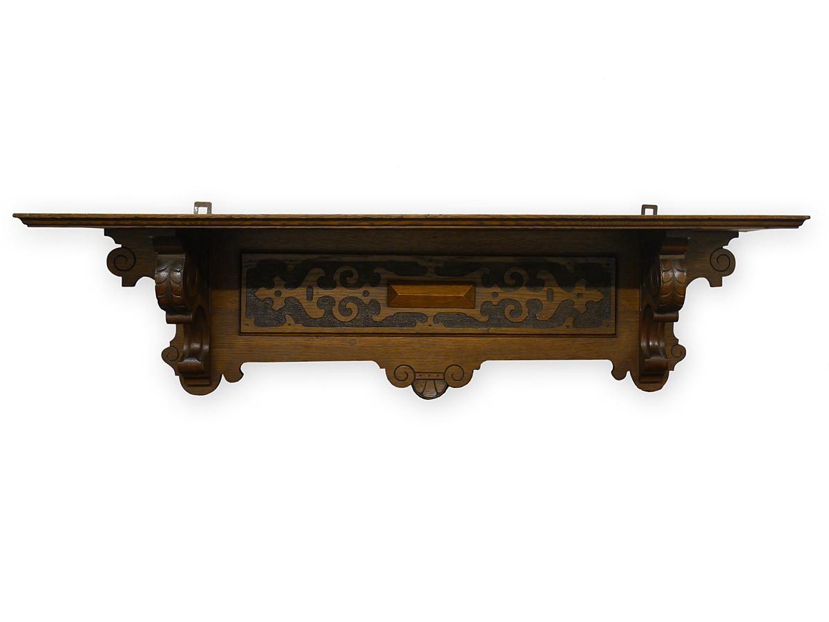 regal wandregal wandboard antik gr nderzeit um 1880 eiche. Black Bedroom Furniture Sets. Home Design Ideas