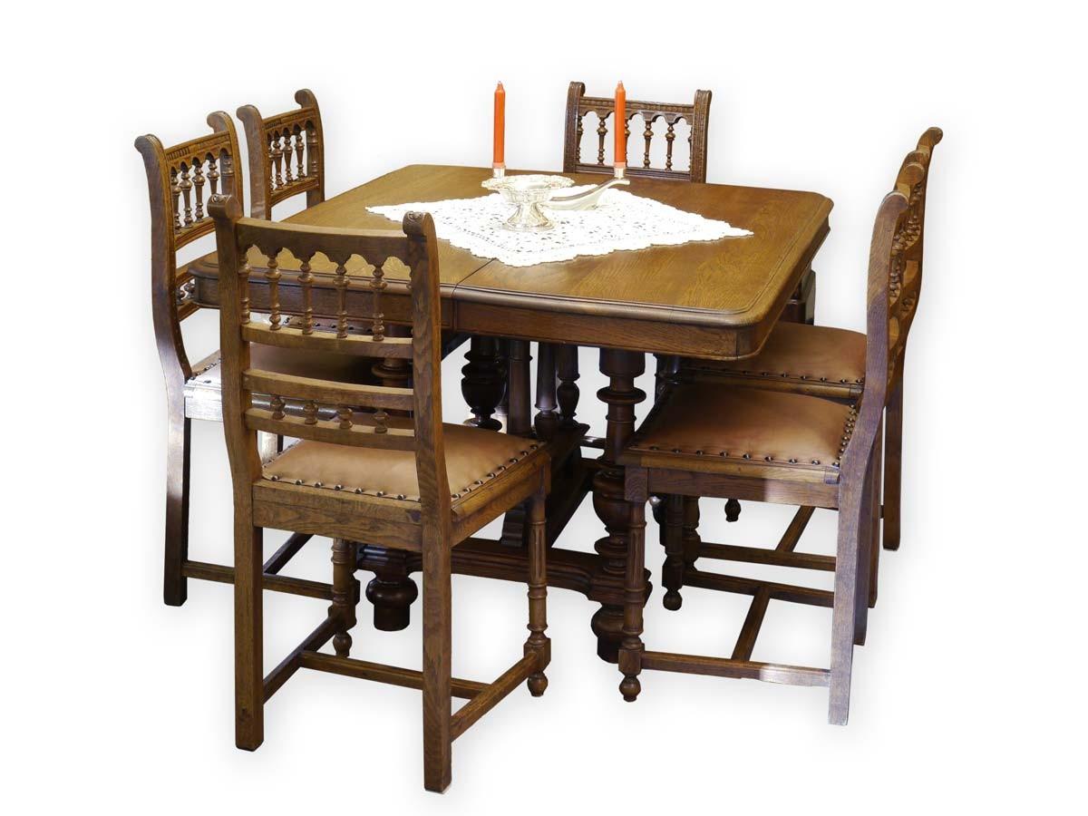 tischgruppe essgruppe gr nderzeit um 1880 ausziehbarer. Black Bedroom Furniture Sets. Home Design Ideas