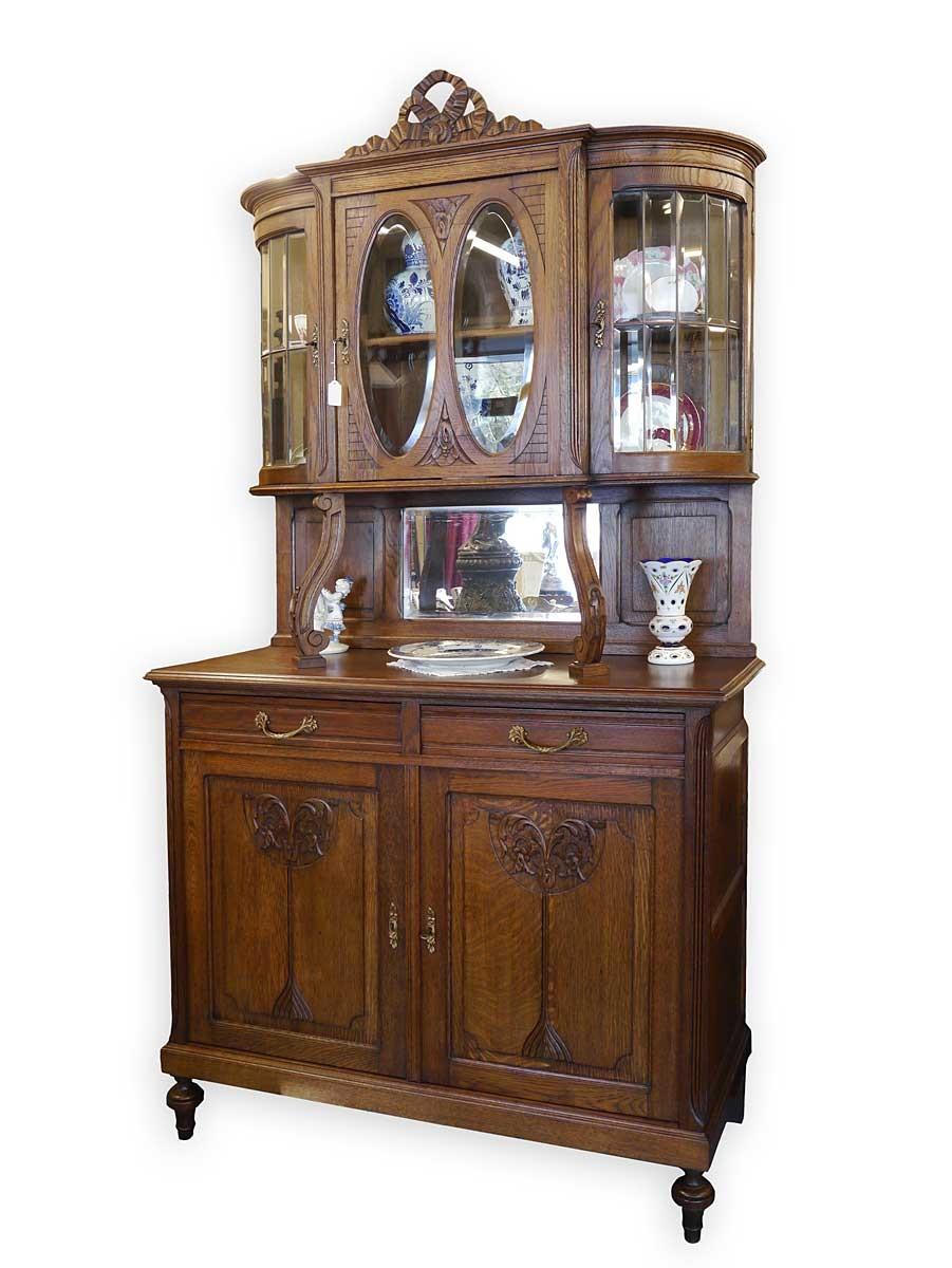 buffet k chenschrank buffetschrank mit rundbogen antik. Black Bedroom Furniture Sets. Home Design Ideas