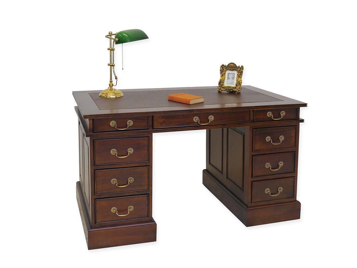 schreibtisch im antik stil massivholz lederauflage schreibm bel schreibtische. Black Bedroom Furniture Sets. Home Design Ideas