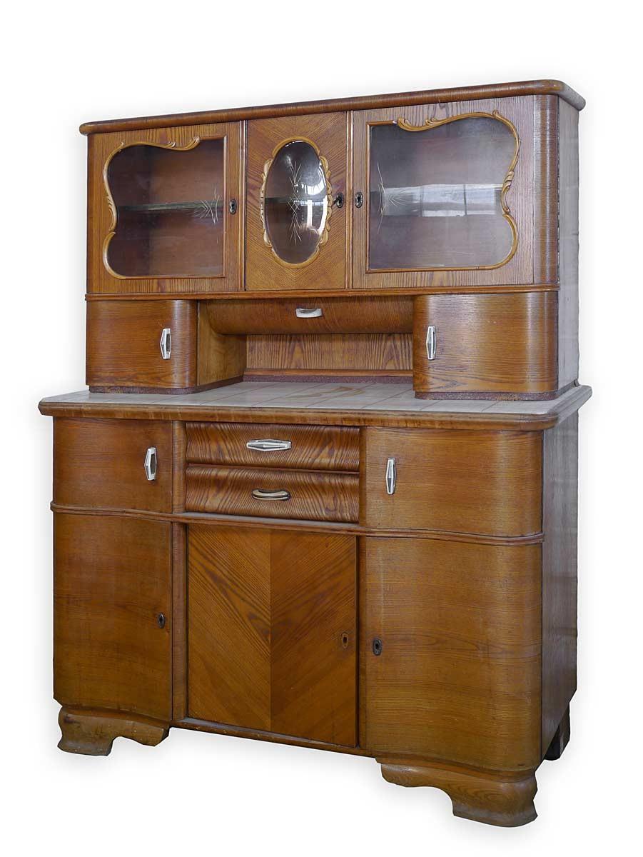 buffet k chenbuffet schrank art deco um 1920 eiche 3278. Black Bedroom Furniture Sets. Home Design Ideas