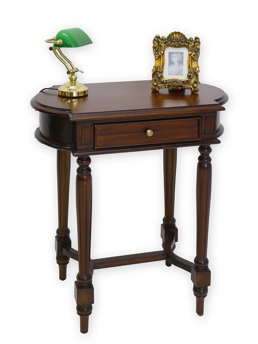 beistelltisch im antiken stil mit 1 schublade tische beistelltische. Black Bedroom Furniture Sets. Home Design Ideas