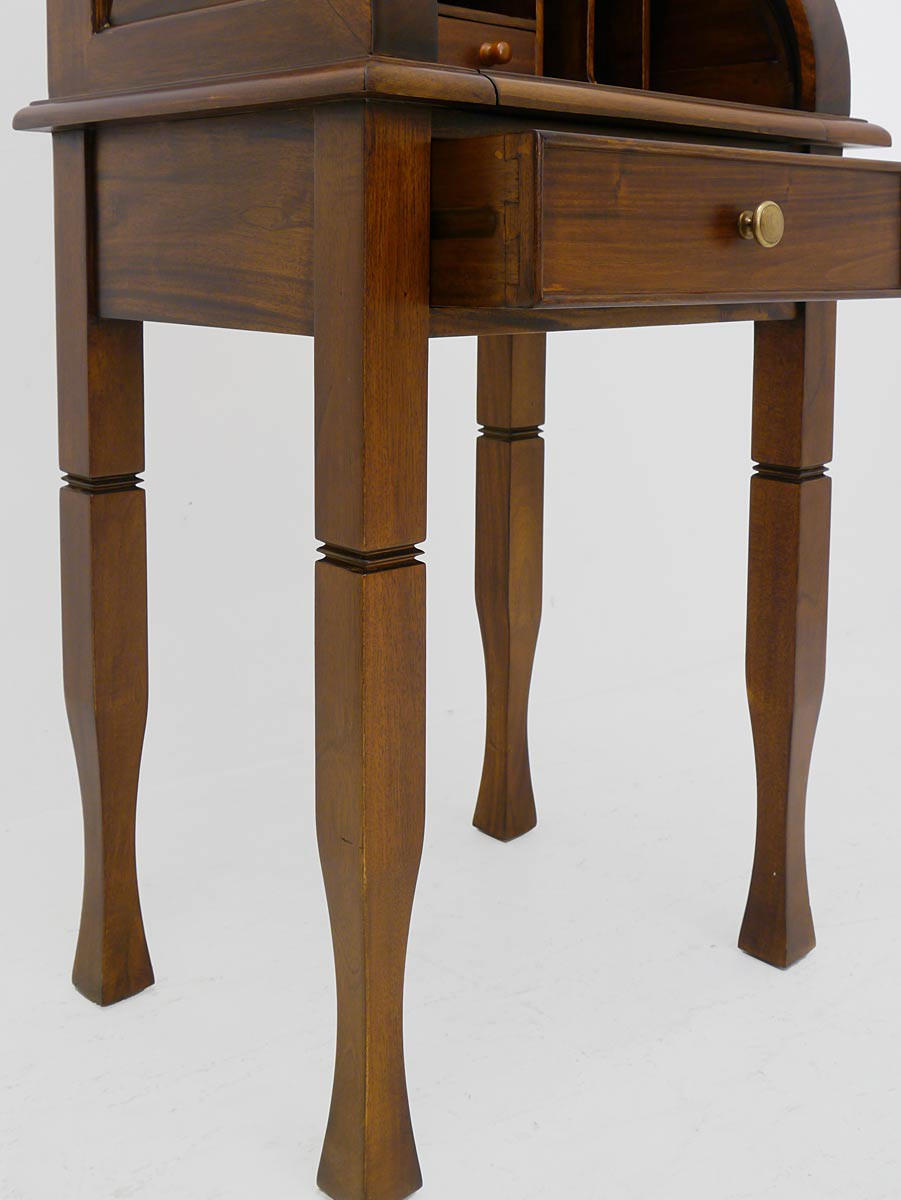 sekret r rolladensekret r schreibm bel antik stil massiv in nussbaum 3338 ebay. Black Bedroom Furniture Sets. Home Design Ideas