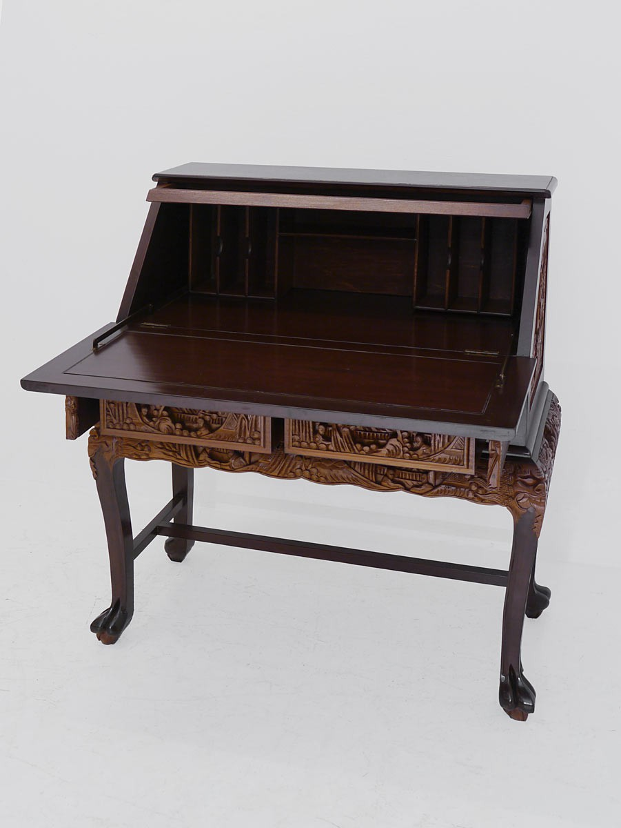 sekret r schreibsekret r schreibschrank asiatischen stil massivholz 3341 ebay. Black Bedroom Furniture Sets. Home Design Ideas