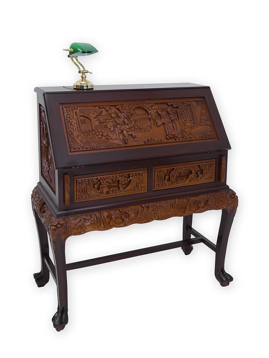 sekret r schreibsekret r schreibschrank asiatischen stil massivholz 3341. Black Bedroom Furniture Sets. Home Design Ideas