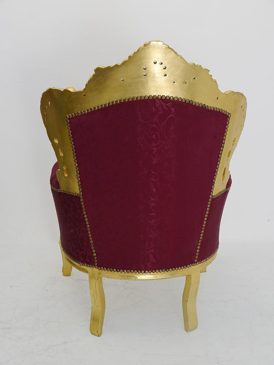 sessel stuhl armlehnsessel massivholz antik barock stil gold 3395 ebay. Black Bedroom Furniture Sets. Home Design Ideas