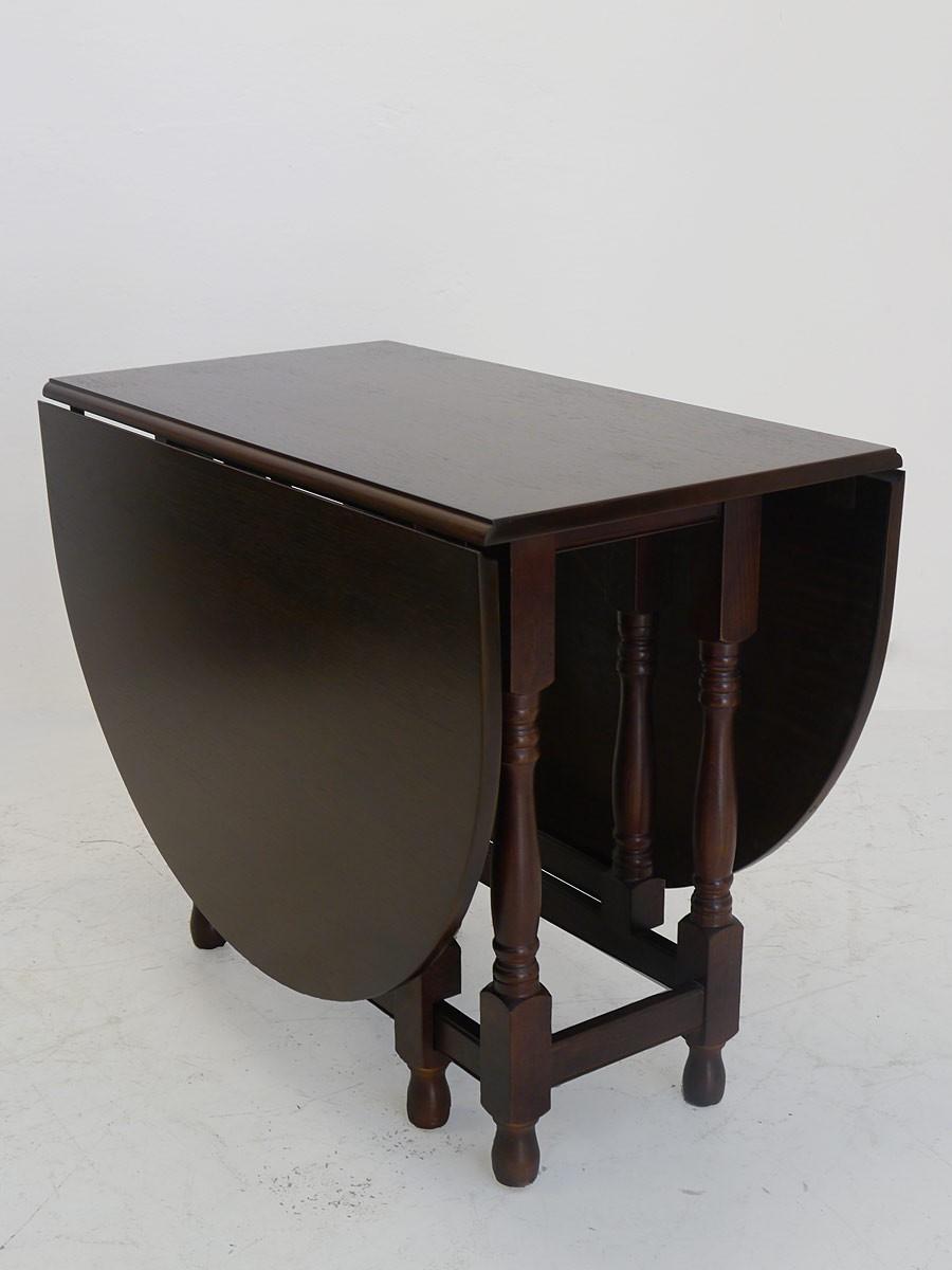 tisch gateleg klapptisch um 1900 aus massiver eiche antik. Black Bedroom Furniture Sets. Home Design Ideas
