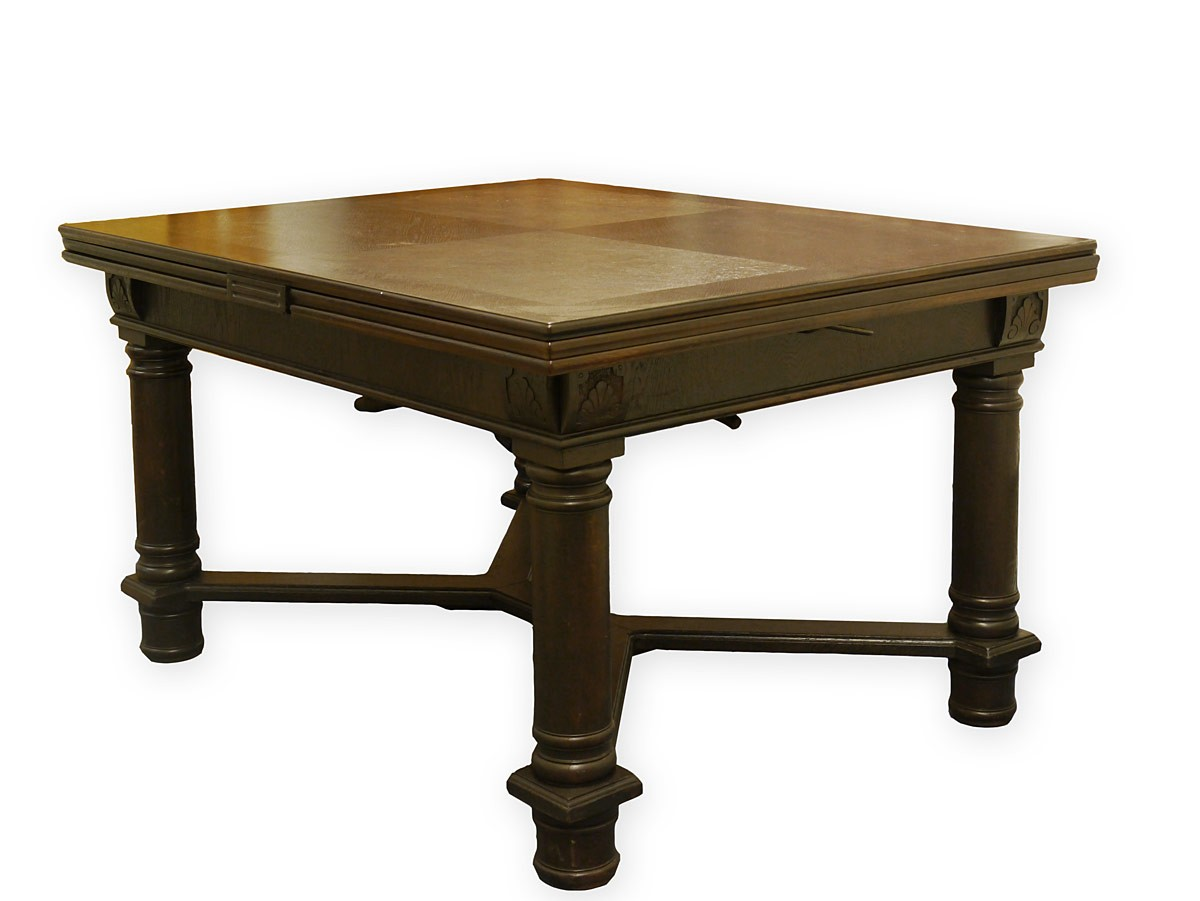 Tisch Esstisch Esszimmertisch Antik um 1920 Eiche ausziehbar bis 384 ...
