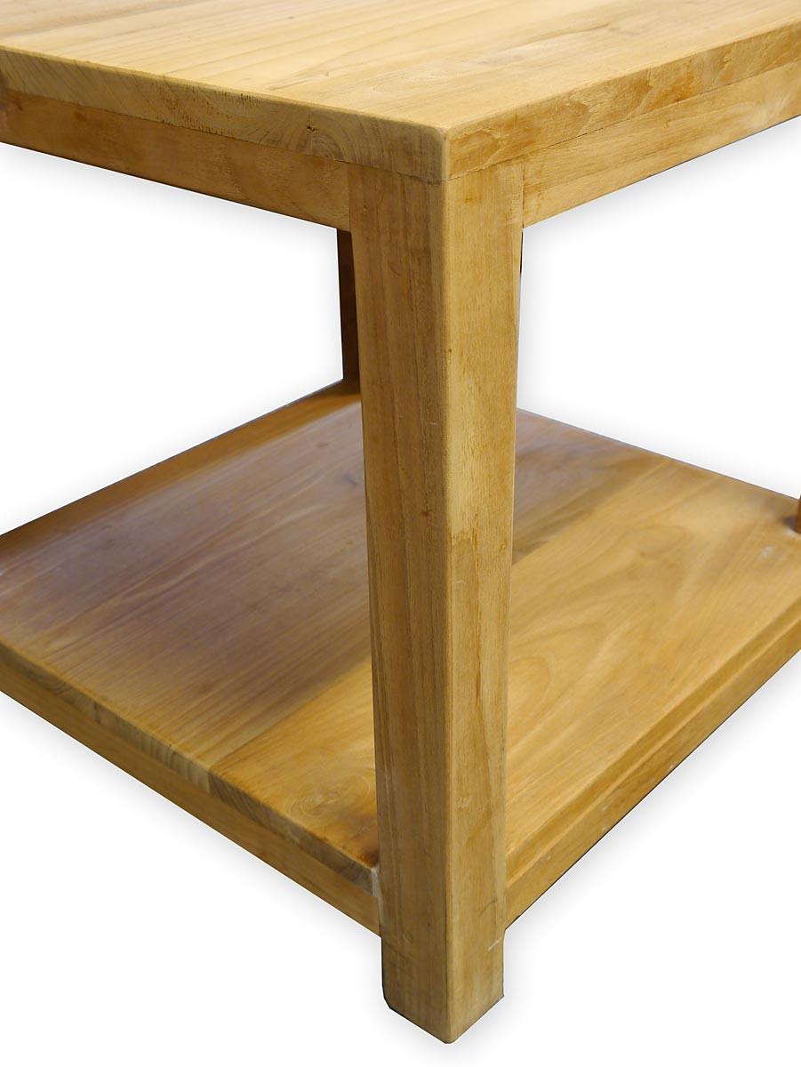 beistelltisch im mediterranen stil aus massivem teakholz tische beistelltische. Black Bedroom Furniture Sets. Home Design Ideas