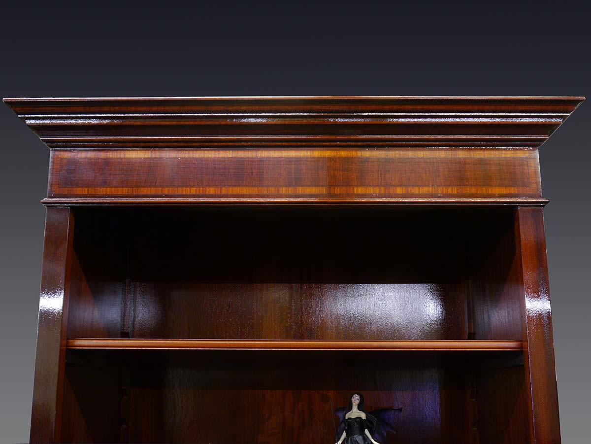 edles b cherregal in mahagoni f r b cher und din a4 ordner regale regalsysteme regale. Black Bedroom Furniture Sets. Home Design Ideas