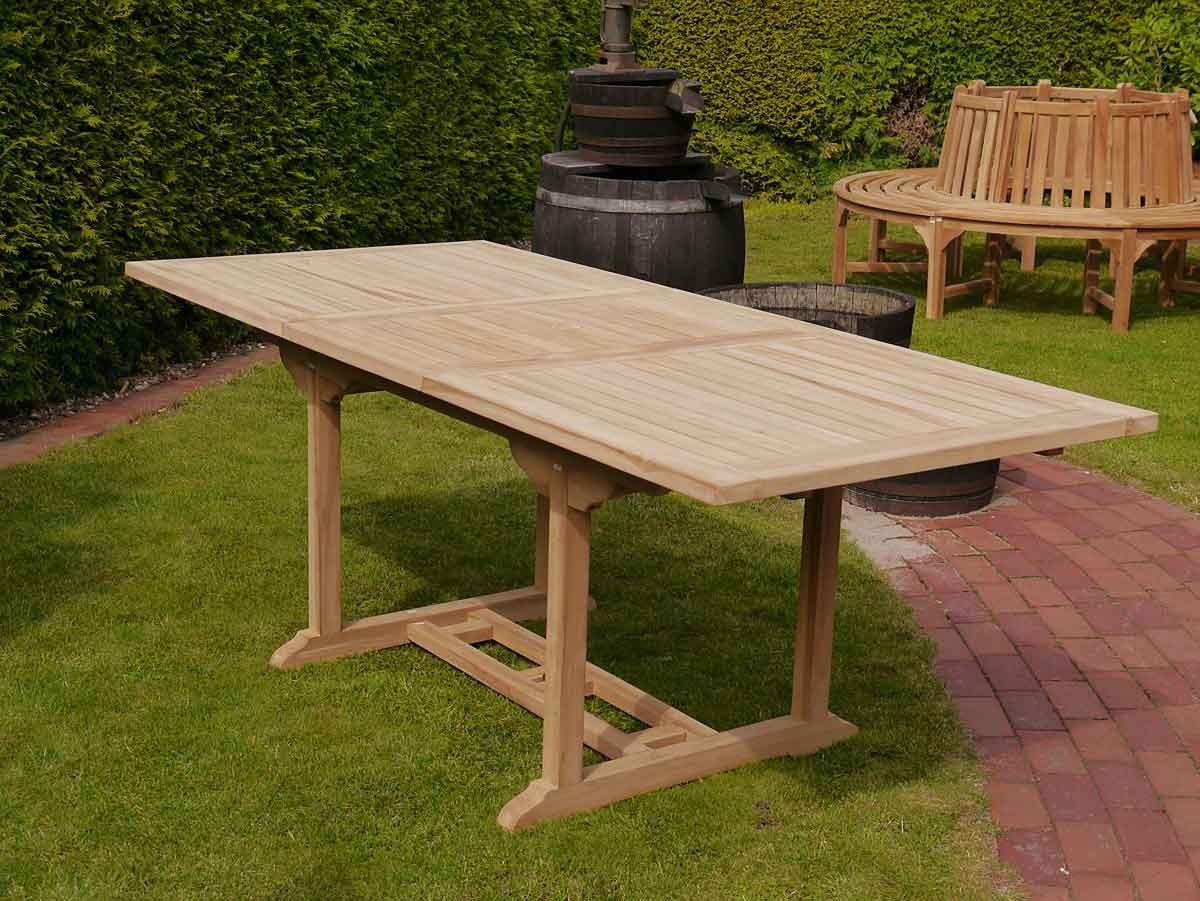 Gartenmobel Edelstahl Larche : Gartentisch Gartenmöbel aus massiven Teakholz ausziehbar von 150200