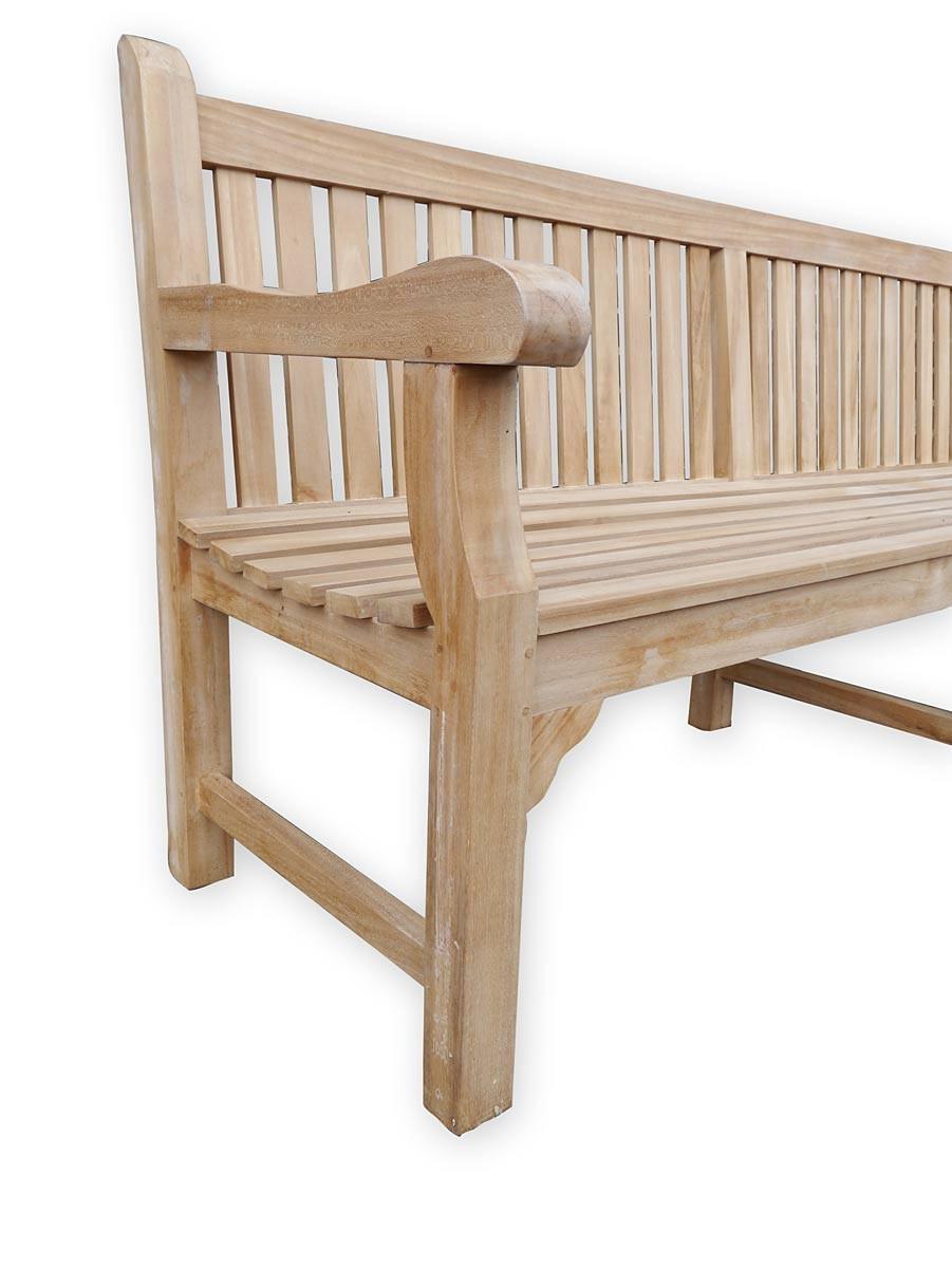 gartenbank sitzbank gartenm bel 4 sitzer aus massivem teak holz 3652 ebay. Black Bedroom Furniture Sets. Home Design Ideas
