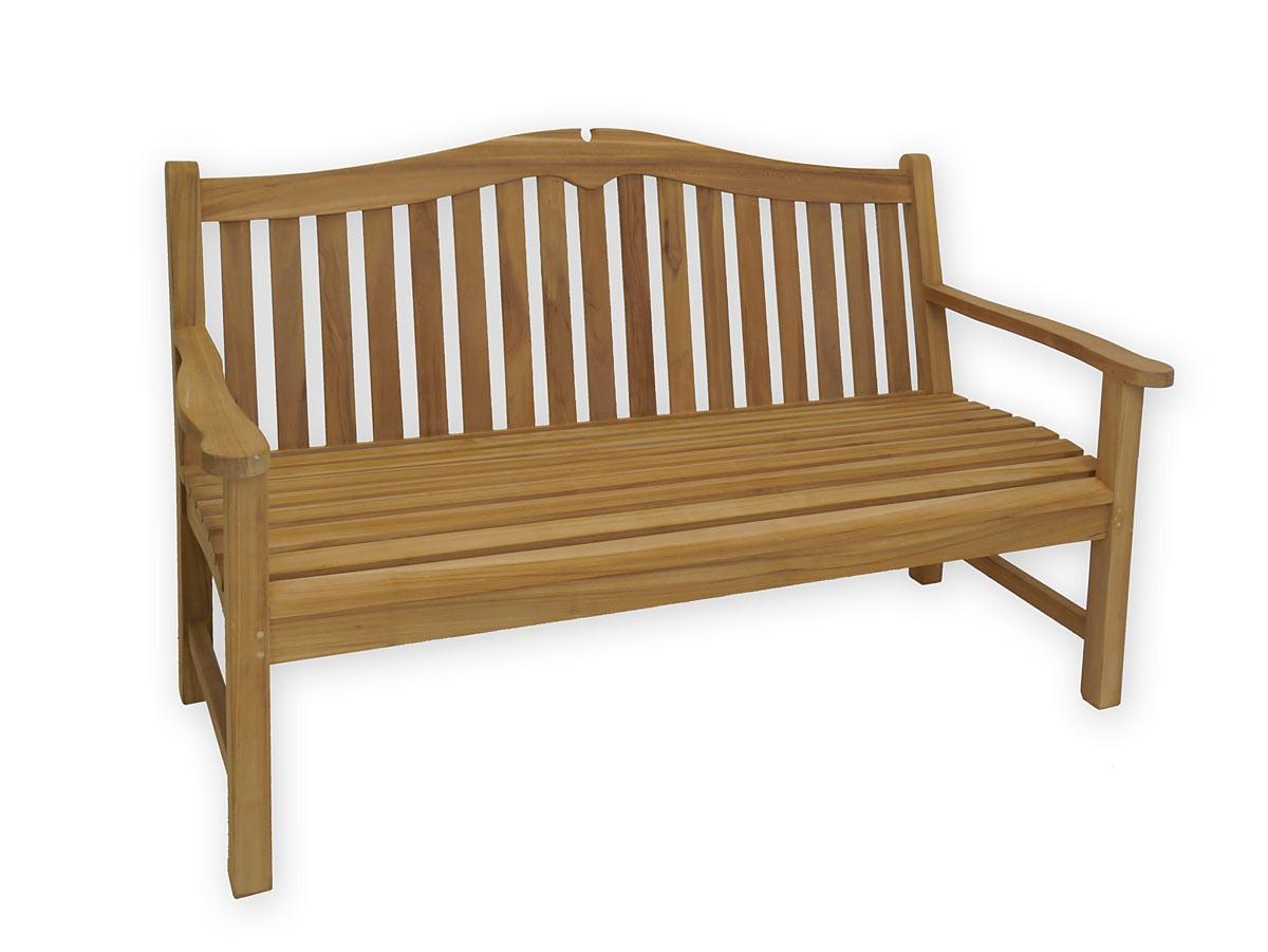 sch ne gartenbank 3 sitzer aus feinem teakholz ca 160 cm. Black Bedroom Furniture Sets. Home Design Ideas