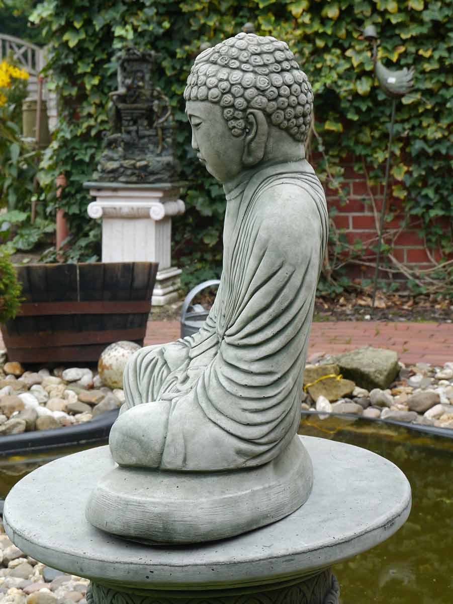 buddhafigur aus beton haus und garten figuren menschenfiguren. Black Bedroom Furniture Sets. Home Design Ideas