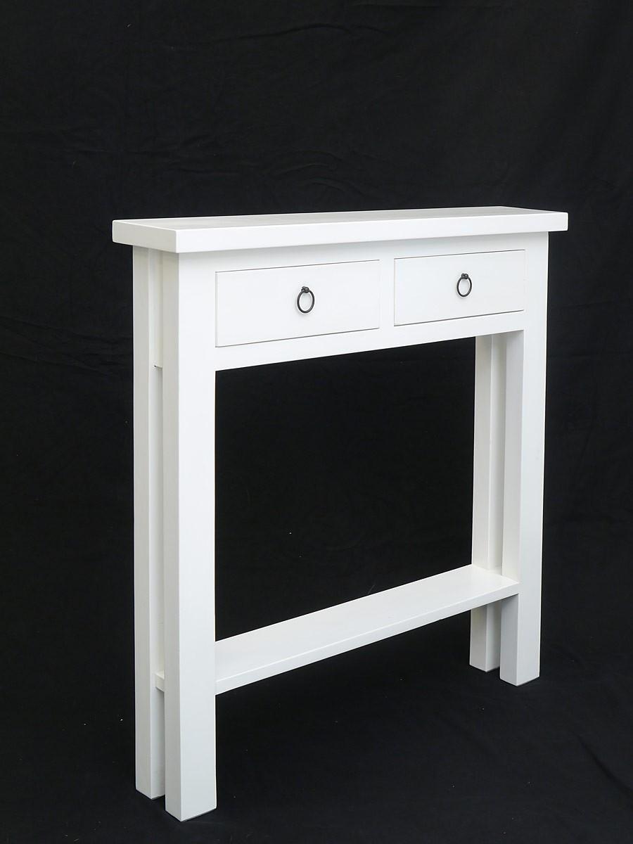schmaler wandtisch flurtisch in wei lackiert tische. Black Bedroom Furniture Sets. Home Design Ideas