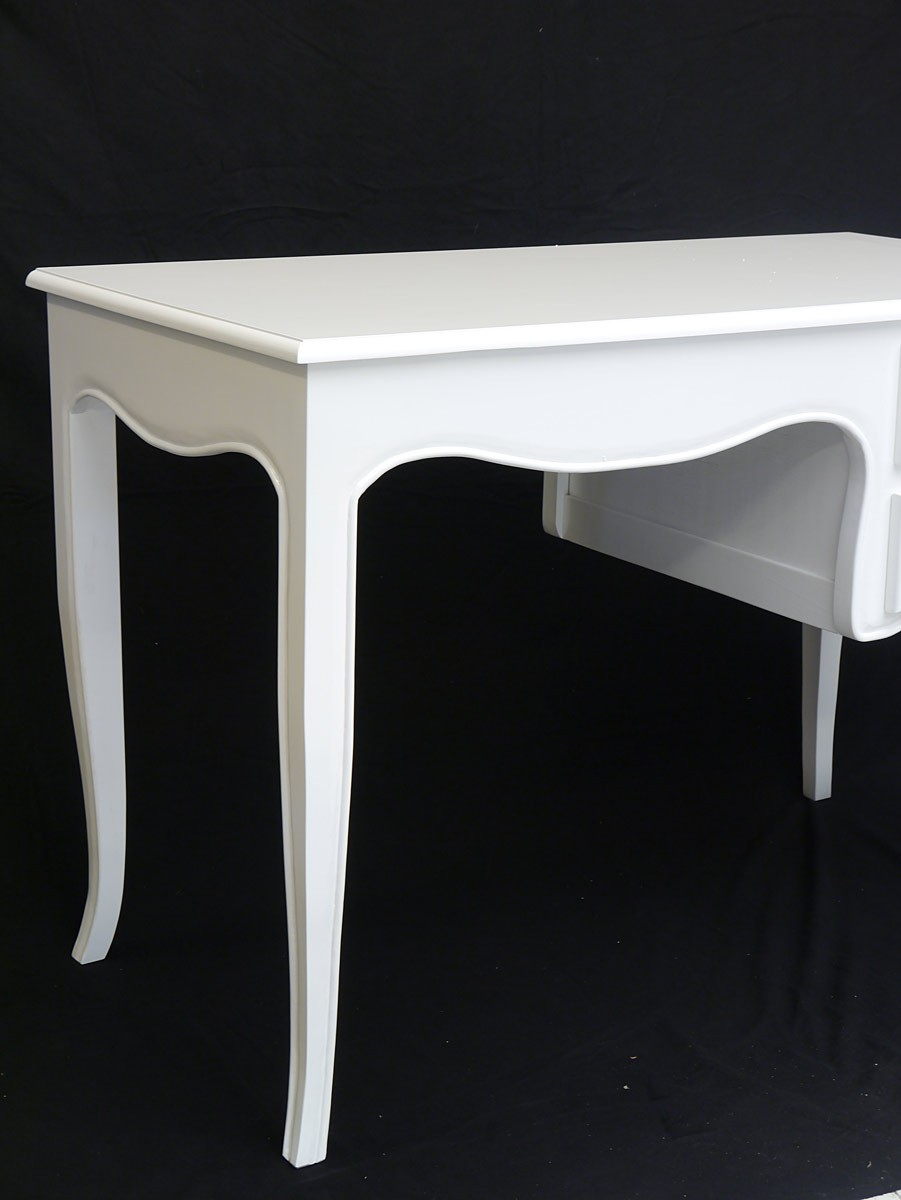 schreibtisch damenschreibtisch b rom bel antik stil in gl nzendem wei 3763 ebay. Black Bedroom Furniture Sets. Home Design Ideas