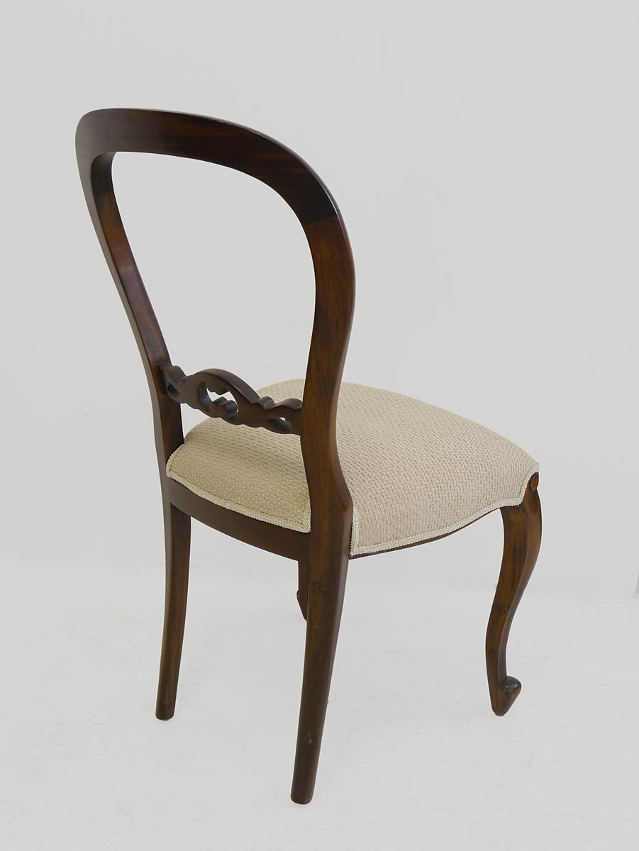 edler stuhl louis philippe stil mahagoni sitzm bel st hle. Black Bedroom Furniture Sets. Home Design Ideas
