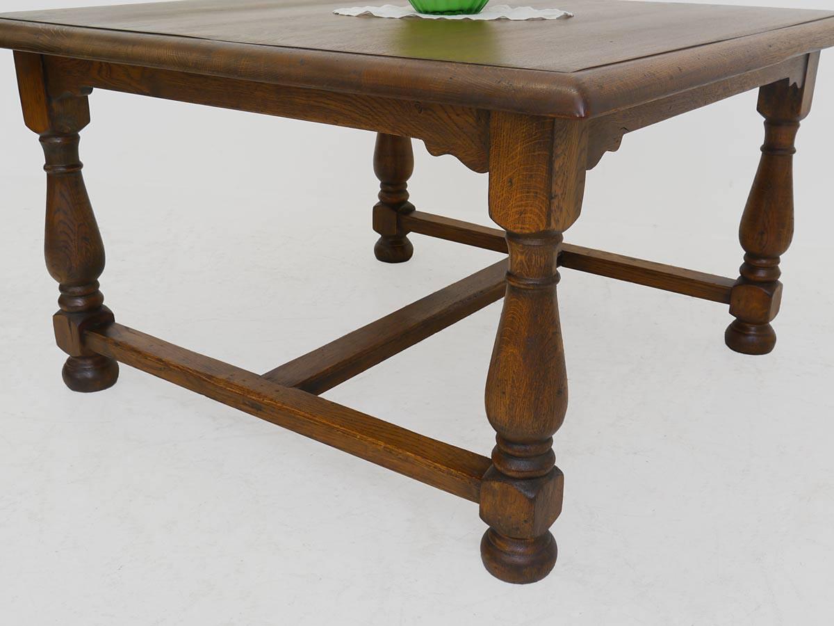 Tisch couchtisch wohnzimmertisch quadratisch antik um 1900 for Couchtisch quadratisch eiche