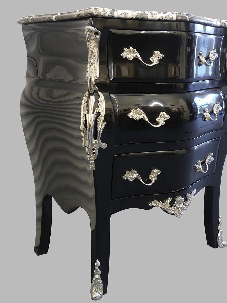 edle schwarze kommode im barock stil kommoden und anrichten kommoden. Black Bedroom Furniture Sets. Home Design Ideas