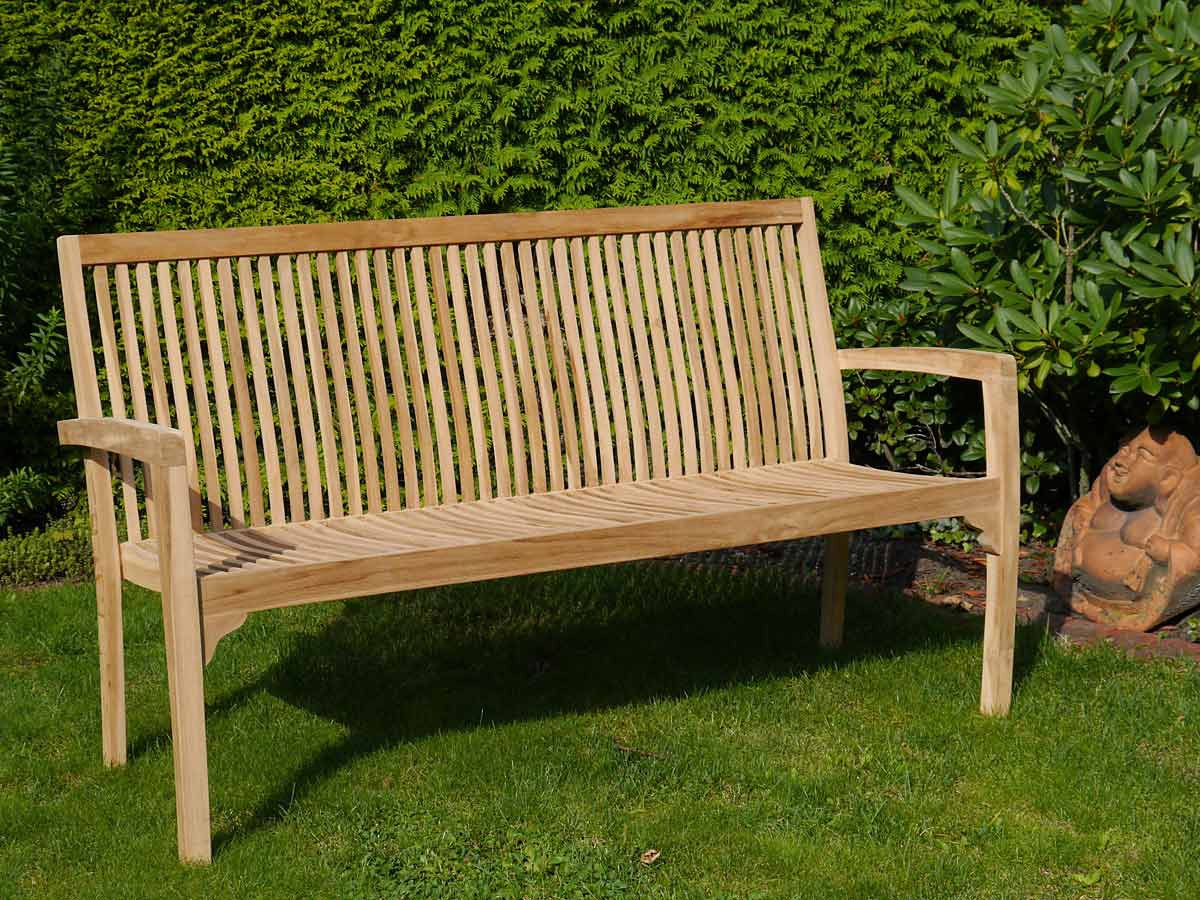 Gartenmobel Edelstahl Larche :  Sitzbank 3Sitzer Gartenmöbel aus Teakholz unbehandelt (3866)  eBay