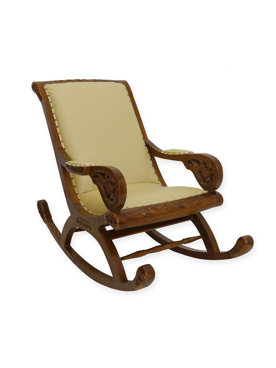 Stuhl schaukelstuhl schwingstuhl im antiken stil in for Leder schaukelstuhl