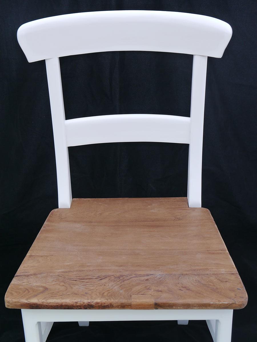 stuhl im landhausstil teakholz in wei und natur sitzm bel st hle. Black Bedroom Furniture Sets. Home Design Ideas