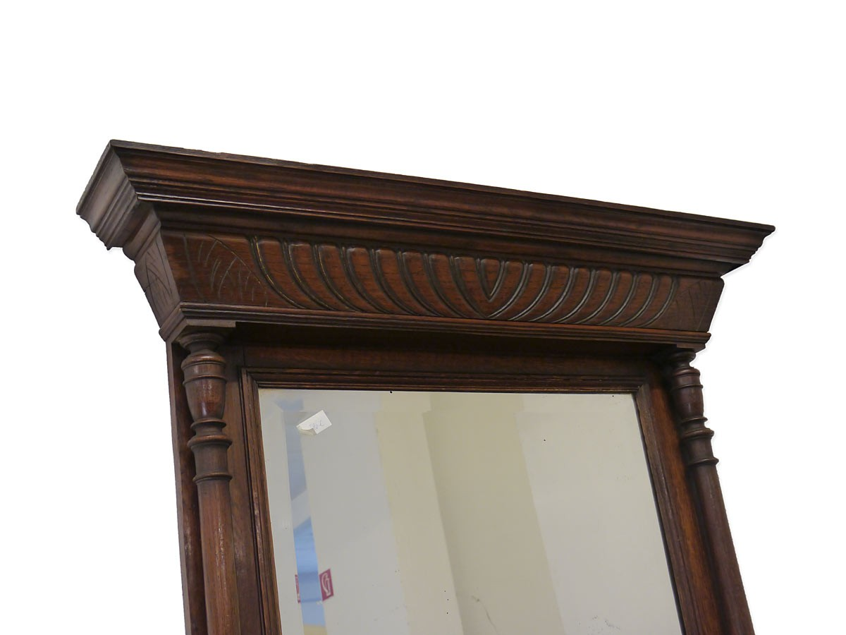 Spiegel wandspiegel garderobenspiegel antik gr nderzeit um 1880 eiche 3956 ebay - Spiegel holzrahmen eiche ...