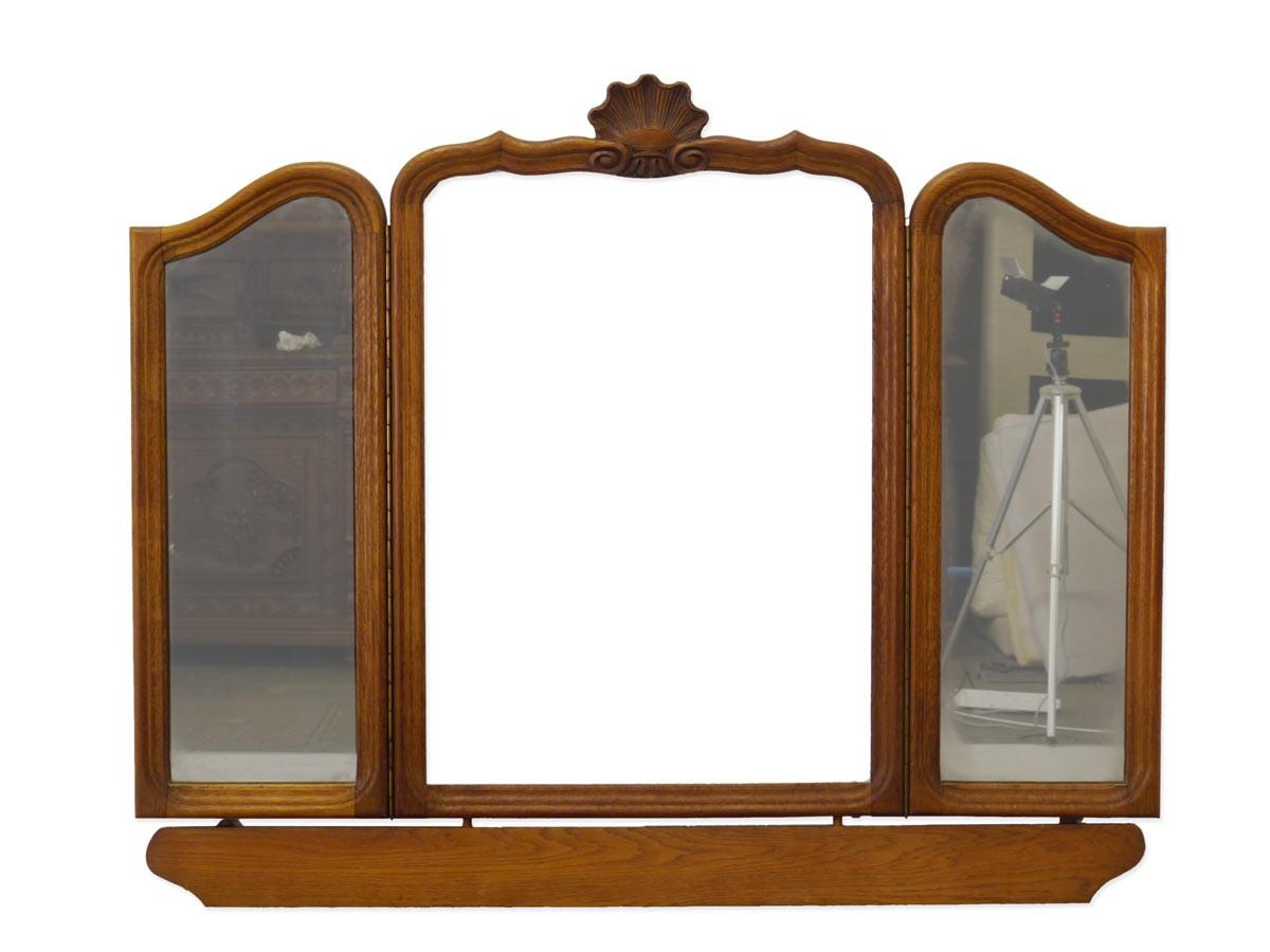 spiegel frisierspiegel spiegelaufsatz aus eiche 60er jahre. Black Bedroom Furniture Sets. Home Design Ideas