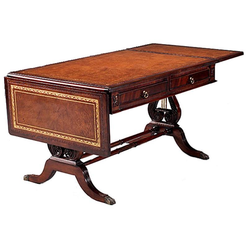 Couchtisch aus mahagoni auf lyra untergestell tische for Tische couchtische