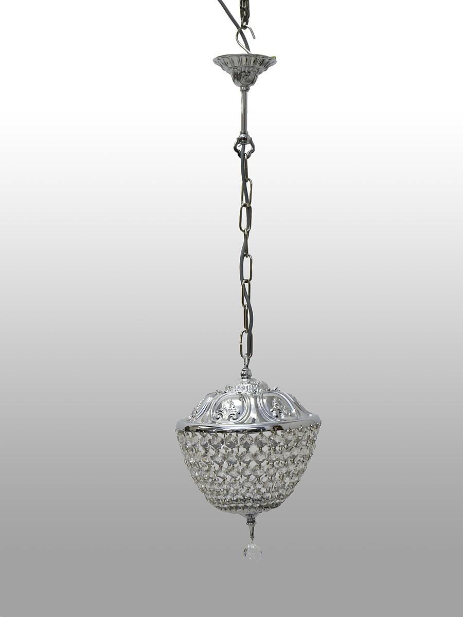 stilvolle kristall deckenleuchte verchromt lampen. Black Bedroom Furniture Sets. Home Design Ideas