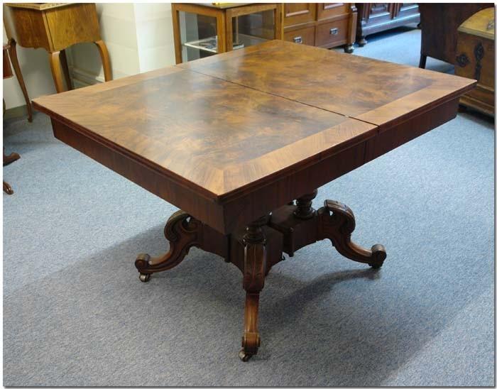 Esstisch ausziehbar antik  Esstisch Nußbaum Spätbiedermeier ausziehbar bis 3,30m Tisch (412 ...