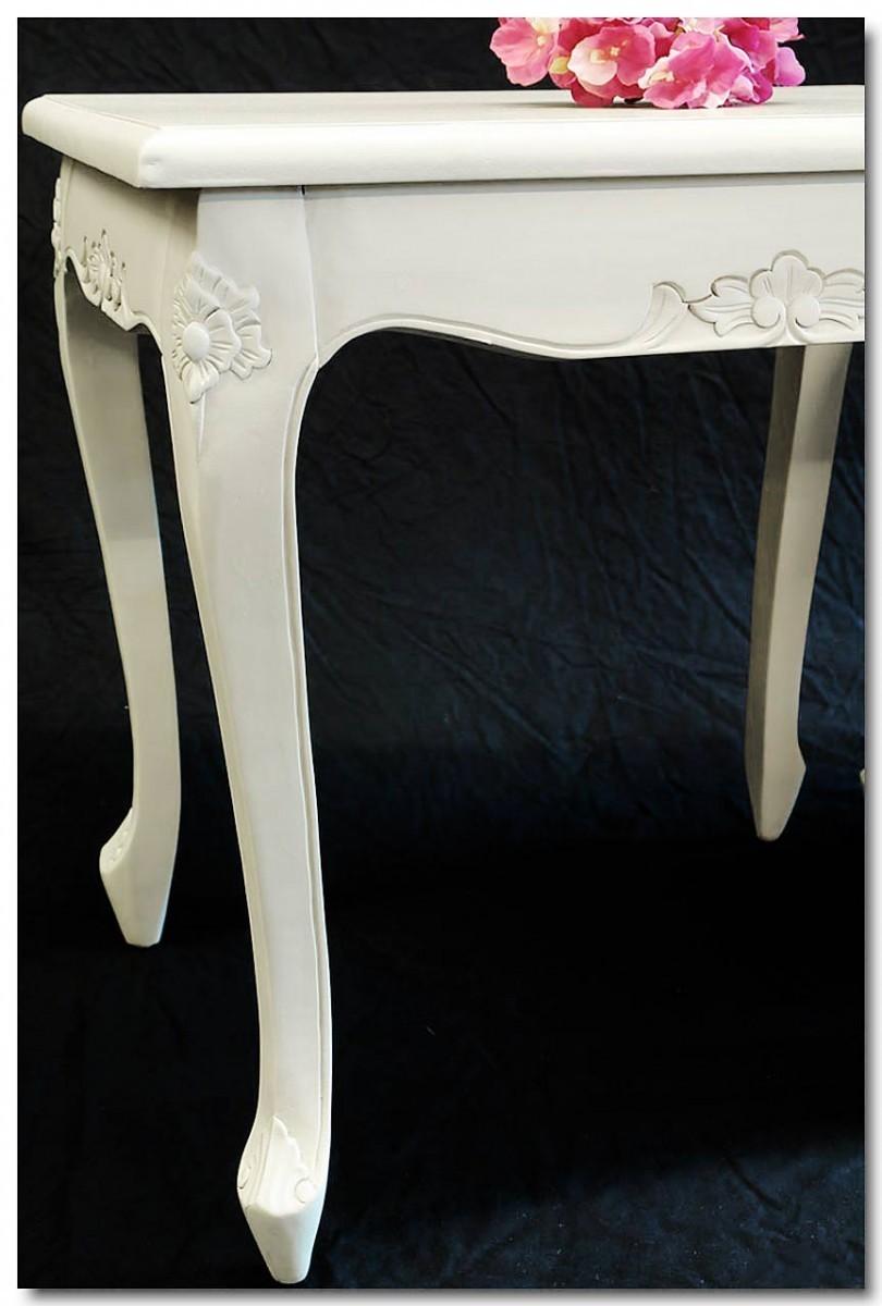 beistelltisch 3er set antiken stil in creme wei tische beistelltische. Black Bedroom Furniture Sets. Home Design Ideas
