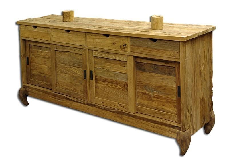 Sideboard teak teakholz massiv orientalischer einflu for Kommoden und sideboards