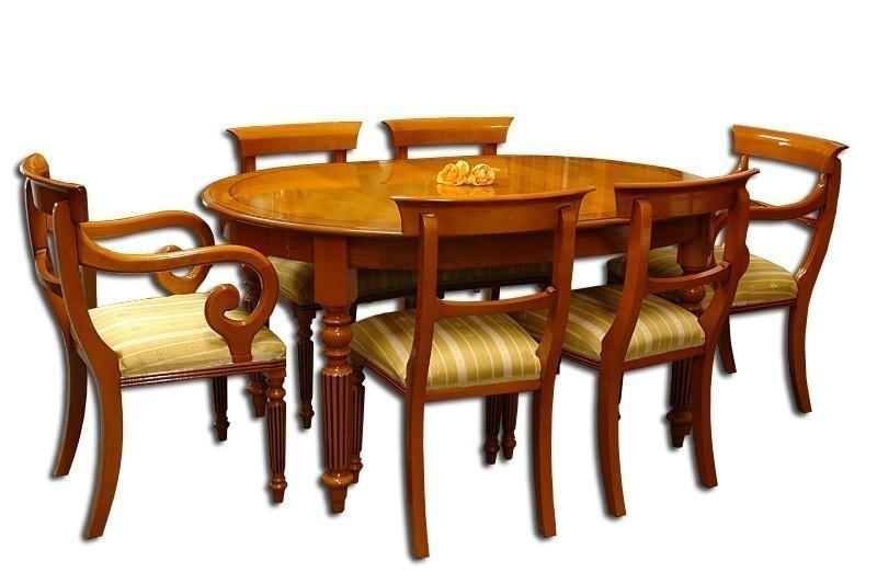 tischgruppe mit 8 st hlen aus eibe im englischen stil tische esstische tischgruppen. Black Bedroom Furniture Sets. Home Design Ideas