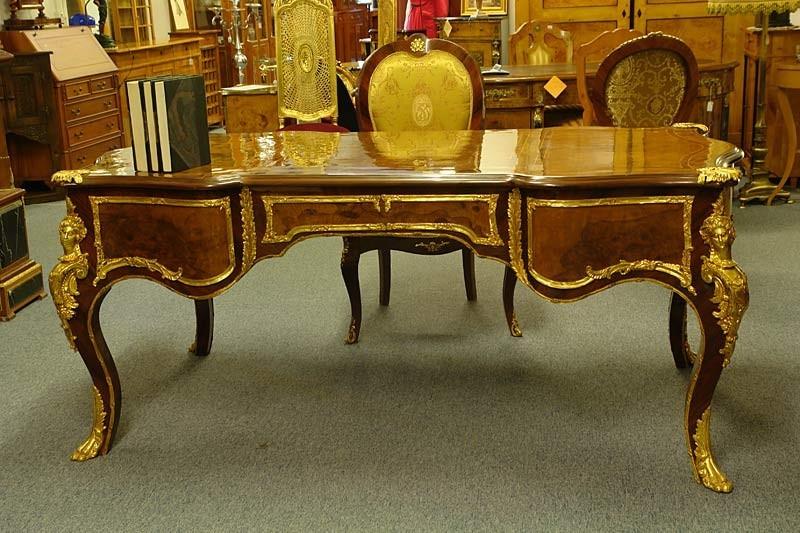 Gartenmobel Edelstahl Eiche : Schreibtisch kniglich im barocken stil mit edlen messingapplikationen