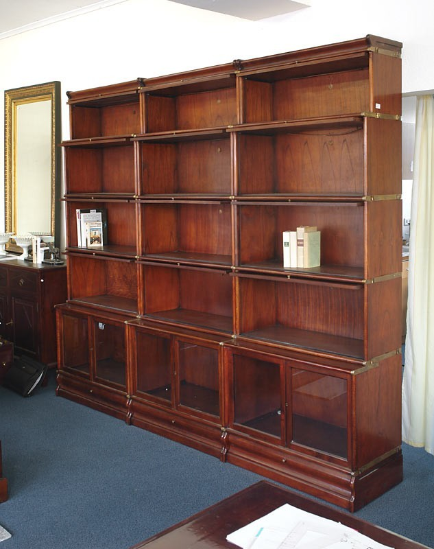 regal wandregal b cherregal studio globe wernicke mahagoni antik stil 989 ebay. Black Bedroom Furniture Sets. Home Design Ideas